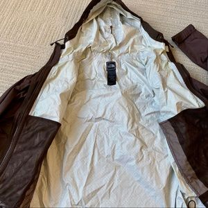 The North Face Jackets & Coats - The North Face Hyvent Brown Rain Jacket